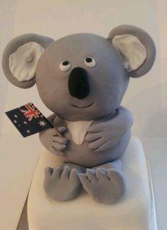 shooga.com.au koala Cupcake Toppers, Cupcake Cakes, Australia Cake, Cake Art, Teddy Bear, Toys, Animals, Activity Toys, Animales