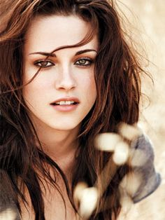 "I like how Kristen Stewart has this mussed, ""bed head"" hair thing going, and she wears what she wants to, which tends to have this edgy feel. And you can't go wrong with a brown smokey eye."