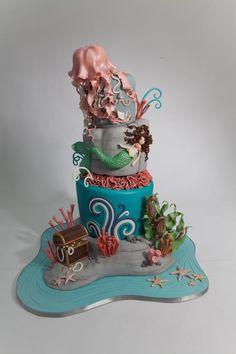 Amazing Mermaid Cake by Sugarbelle Cakes!