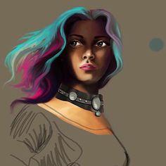 Work in progress #wip #Warrior #digitalpainting #girl #digital #digitalart #digitalartist #visual #art #hairstyles #haircolor #instaart #instagram #instaartist #instadigital #cc #cg #shadow #concept #artporn #artist #behance #practice #artwork #diy