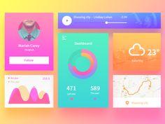 Ui Kit by aiki007 #Design Popular #Dribbble #shots