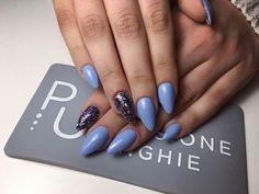 #MyNails #AlmondNails #Gel #Blueberry #Marte #PassioneUnghie