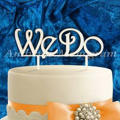 Two spikes Custom cut wooden We Do cake topper makes a perfect finishing touch to any Wedding cake, Anniversary, Birthday, Celebration, Family or any other Romantic Dinner or Special Occasion. The laser-cut unpainted wooden Cake Topper made from high quality 1/4 Baltic plywood - natural unfinished, quality, birch wood. Its lightly sanded and can be easily personalized to match your wedding or other décor perfectly. This monogram comes unpainted custom cut Custom sizes are also available....