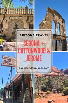 Sedona, Arizona Travel Guide: From off-roading to energy vortexes and a day trip to Cottonwood and Jerome, here's what to do on a visit to Sedona, Arizona, USA. Sedona Arizona, Cottonwood Arizona, Visit Arizona, Arizona Road Trip, Arizona Travel, Arizona Usa, Jerome Arizona, Patio Azul, Grand Canyon Vacation