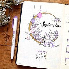 .。:* K o t o s e .。:* sur Instagram: 9月はお月見のイメージなので、月とうさぎをテーマにしてみました🌕🐇十五夜は9月の日が多いのですが、実は今年は10月1日だったみたいです😅(後で気づいた) ・ I associate September with Tsukimi(Mid autumn…