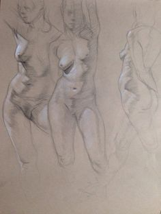 Signed sketch of a female figure as seen in the by CefaloGallery