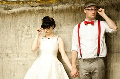 Are you wearing glasses at your wedding? :) Brides in glasses   Offbeat Bride