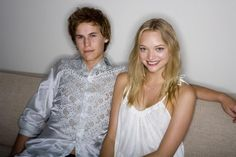 Gemma Ward in a promotional photo-shoot for the Black Balloon 2008.