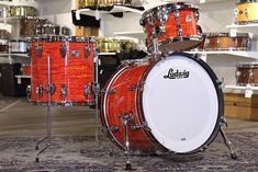 Buy the Ludwig Classic Maple Downbeat Drum Set Mod Orange at Drum Center of Portsmouth and browse thousands of unique percussion products tailored for the serious and beginning drummer.