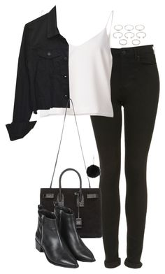 """Untitled #4837"" by eleanorsclosettt ❤ liked on Polyvore featuring Topshop, Yves Saint Laurent and Forever 21"
