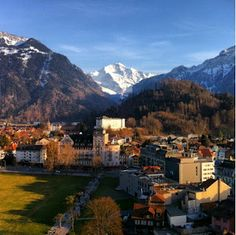 Interlaken Switzerland- one of the most beautiful places I've ever been!