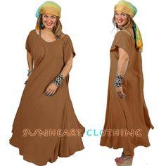 Dairi Moroccan Cotton Farfala Strappy Peek-a-boo Shoulder Dress . Boho, Hippie Chic, Goddess Garments.
