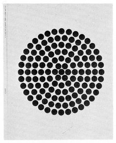 stationery for the Cumberland Furniture Corporation, Rudolph de Harak 1960 Op Art, Circle Game, New York School, A Perfect Circle, Dotted Line, Round Design, Happy B Day, Illustrations And Posters, Stripes Design