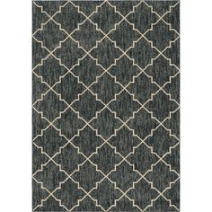 Looking Glass Plush Trellis Blue 7 ft. 10 in. x 10 ft. 10 in. Area Rug
