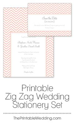 Modern and sleek the Whimsical Wedding Set contains wedding