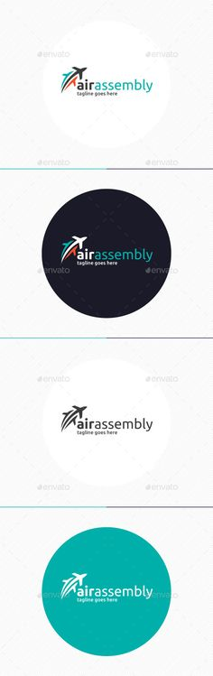 Air Assembly Logo — Photoshop PSD #transport #move • Available here → https://graphicriver.net/item/air-assembly-logo/9231253?ref=pxcr