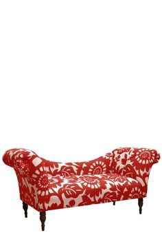 Luxury Headboards by Gold Coast  Tufted Chaise Lounge - Gerber Cherry