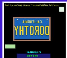 Check personalized license plate availability california 181039 - The Best Image Search