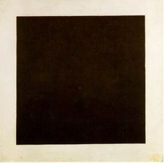 """Kasimir Malevich, Black Square, 1929. Oil on canvas, 42"""" x 42.""""  This piece stopped me in my tracks at the Centre Pompidou."""