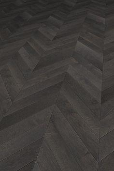 Black Wood Floors, Wood Tile Floors, Painted Floors, Stone Flooring, Wooden Flooring, Vinyl Flooring, Chevron Floor, Black Chevron, Wood Parquet