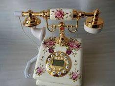 Antika telefonlar Vintage Phones, Vintage Telephone, Home Phone, Landline Phone, Home Accessories, Shabby Chic, Retro, Beautiful, Renaissance