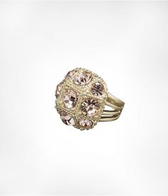 Express Womens Multistone Braided Ring Vintage Pink, 7
