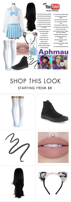 """YouTube 30 Days"" by dappershadow ❤ liked on Polyvore featuring Converse, Maybelline, MAISON MICHEL PARIS and MANU Atelier"