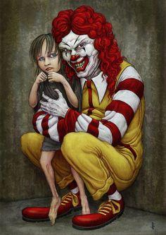 Requiem For A Queen - James Flaxman- Clown Horror, Creepy Horror, Creepy Clown, Creepy Art, Halloween Horror, Horror Art, Halloween 2016, Art Sinistre, Images Terrifiantes