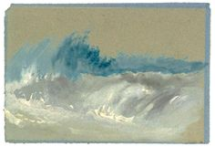 Joseph Mallord William Turner Breaking Wave on Beach after c.1830