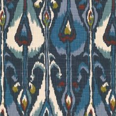 navy patterned fabric - Google Search