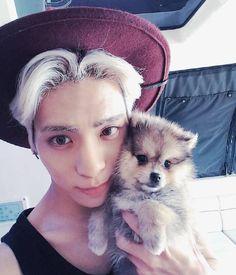 Jonghyun and puppy