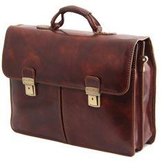 Leder Aktentasche BOLGHERI von Tuscany Leather von Bagstore24 auf DaWanda.com