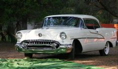 1955 Oldsmobile Ninety-Eight, 455 rocket, wonderbar radio, the car I learned to drive in.