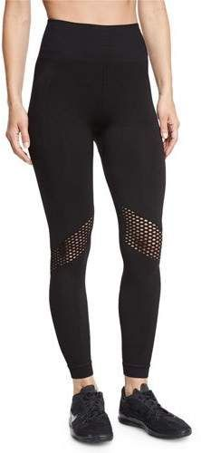 Alala Seamless Mesh-Panel Athletic Leggings, Black | Just click and buy  what you