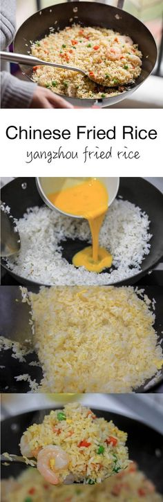 Chinese Fried Rice (Yangzhou Fried Rice) - Recipes from all over the world - food summer Asian Recipes, New Recipes, Dinner Recipes, Cooking Recipes, Healthy Recipes, Rice Recipes, Healthy Food, Cooking Rice, Chinese Recipes