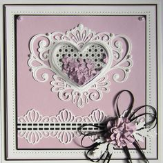 Sue Wilson - Fillables Collection CED21005 Jeweled Heart Die Set Dutch Papercraft Blog