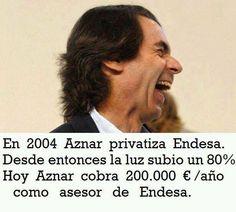 Aznar y sus estafas como presidente