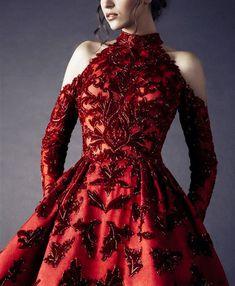 "belleamira: "" Details Rami Kadi Fall 2016 Couture "" Autumn wear in Mirkwood Ball Dresses, Ball Gowns, Evening Dresses, Prom Dresses, Formal Dresses, Dress Outfits, Dress Up, Fashion Dresses, Elegant Dresses"