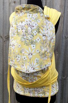 Customs and Semi Customs Flannel Flower, Babywearing, Lemon Yellow, Organic Cotton, Bamboo, Illustrations, Babies, Cute, Fabric