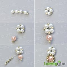 make the first part of the handmade pink and white pearl bracelet