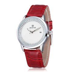Women's Rhinestone Dial Watch