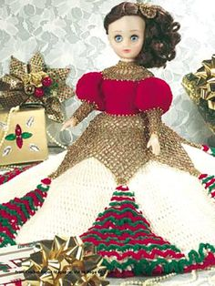 Christmas Bed Doll free crochet pattern