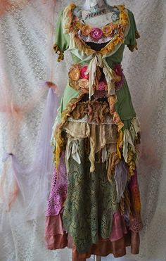 Upcycled skirtbohogypsy chic fairy mori by irinacarmen on Etsy