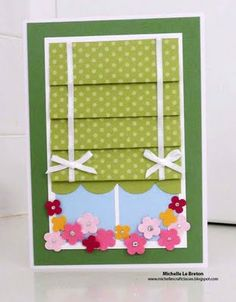 Window Shade try this idea with the Heartfelt Creations window die and another style of window covering