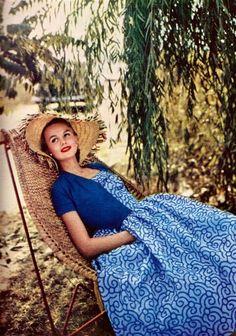 Toni Owen Embroidered Cotton Dress 1955