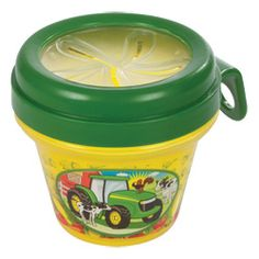 John Deere snack containers enable toddlers snacking on-the-go. The easy grab cover provides easy grasp of dry snacks while keeping nearly every piece inside, should the container slip or fall. John Deere Kids, John Deere Baby, Toddler Snacks, Toddler Toys, John Deere Kitchen, Dry Snacks, Container Shop, Snack Containers, Baby Food Storage