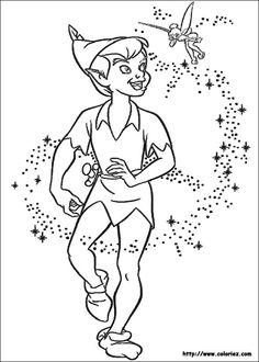 Peter Pan Coloring Pages | Peter Pan & Tinkerbell | Pinterest ...