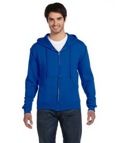 Fruit of the Loom 12 oz. Supercotton™ 70/30 Full-Zip Hood - 82230	 preshrunk 70% cotton, 30% polyester  blend fleece; Single-ply hood with matching tipped and knotted drawcord; 1x1 ribbed cuffs and waistband with spandex; Concealed seam on cuffs; Double-needle stitched collar, armholes and waistband; Full-zip front with pouch pockets; Tagless label;  Adult: S, M, L, XL, 2XL, 3XL   Starting at $20.98