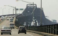 """The famous Pulaski Skyway bridge connecting Jersey City to Newark. I think I hear """"The Sopranos"""" theme music playing in the background..."""