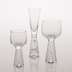 "TIMO SARPANEVA - Glassware, ""Arkipelago"" series designed in 1970's for Iittala, Finland."